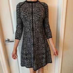 NWOT 3/4 Sleeve Pattern Skater Dress